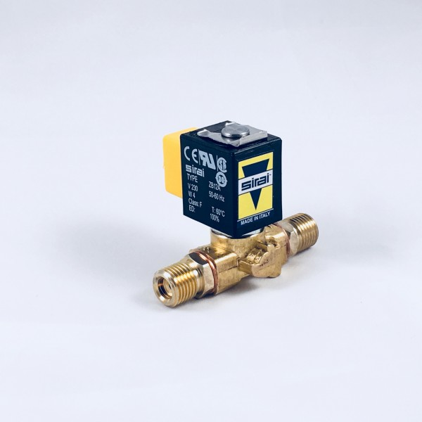 230V/50-60Hz Sirai inlet solenoid with brass fittings